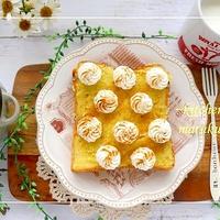 レンジ調理の美味しいさつま芋で作る『スイートポテト』のスイーツデコトースト&サンド2種類&『それぞれの明日』