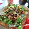 新玉葱×枝豆の和トースト ガーリック&オニオン風味。 by Mickey Anneさん