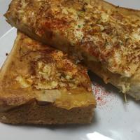 GABAN様がやってきた③朝食編 フライパンでむぎゅっとトースト