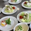 さっぱりお豆腐とカリカリじゃこのサラダなどでヘルシーレシピでレッスン・今朝の富士山