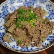 牛肉と大根の焼き肉のたれ煮