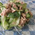 リボンきゅうりのバジルツナサラダ by 花ぴーさん
