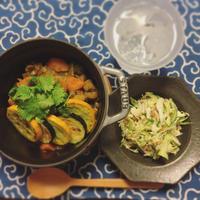キャベツとピーマンの納豆サラダ