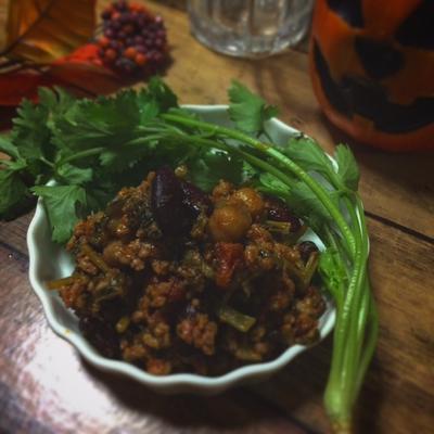 料理教室☆きまぐれランチ♪小松菜のチリコンカン
