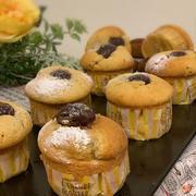 ちょっと贅沢?栗の渋皮煮消費で栗のカップケーキ~ビーフシチュー煮ている最中です!!