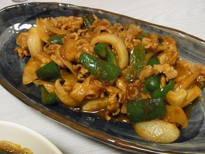 トマト生姜焼き・空芯菜とビアソーの春雨サラダ