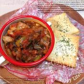 ローズマリー香る豚ヒレ肉のトマト煮込み
