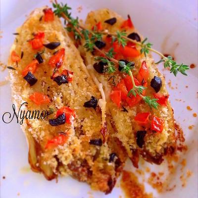 アンディーブの香草パン粉焼き