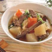 根菜と牛肉のシナモン醤油煮