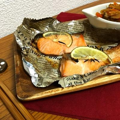 【レシピ】鮭のかぼすバター焼き
