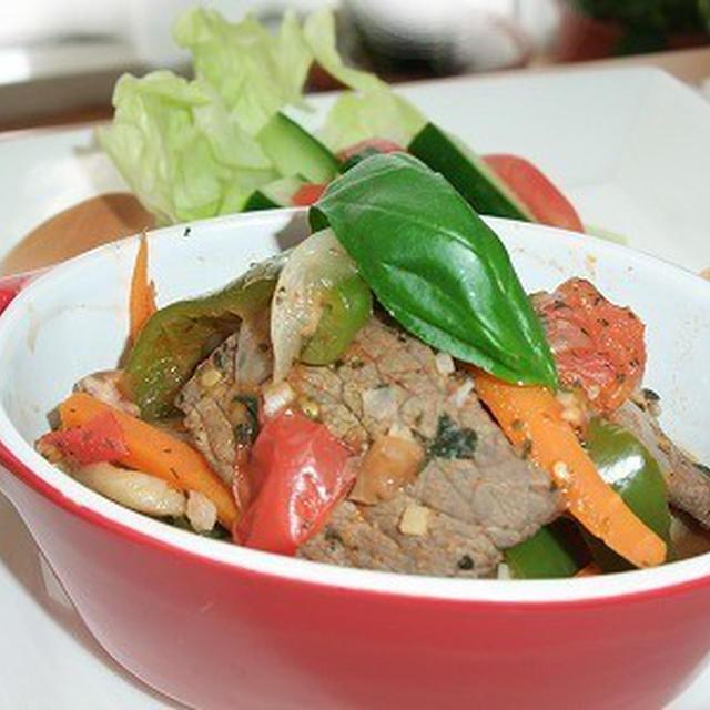 低たんぱく・減塩ごはん レンジで牛肉トマト煮込み