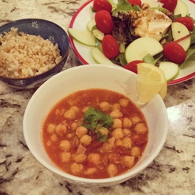 レシピ  ベジタリアンヒヨコ豆カレー with Trader Joe's Garbanzo Beans