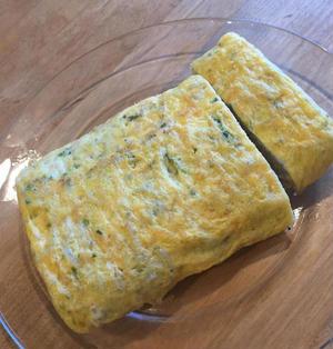 磯の香、シラスとあおさの卵焼き