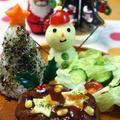 クリスマスプレート★「ライスツリー&雪だるまポテト」 by かんざきあつこ(a-ko)さん