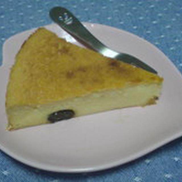 ラムレーズン入りベイクドチーズケーキ