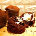 【卵不使用、卵なし】生クリーム入り簡単チョコレートマフィン by へいじつのケーキさん