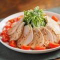 蒸し鶏の七味ポン酢ソースかけ 、 蒸し鶏を炊飯器で作る方法、動画