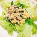 ごまドレで簡単☆ほうれん草とツナの卵サラダ