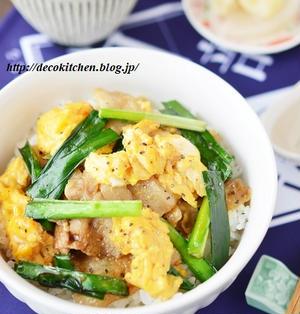 包丁まな板いらずの簡単お昼ご飯「ふんわり炒り卵と豚ニラのオイスター炒めのっけ丼」