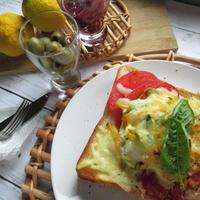 朝ベジ!季節野菜とシラスバジルトースト【レシピ付】