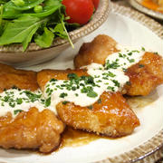 【和食】簡単ジューシー!「鶏むね肉でチキン南蛮風☆タルタルヨーグルトソース」&作り置きおかずで晩ごはん。