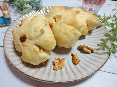 1ボウルで☆手ごね♪くるみパン作り