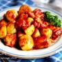 ♡レンジde時短♡鶏肉と新じゃがの生姜焼き♡【#簡単#節約#甘辛】