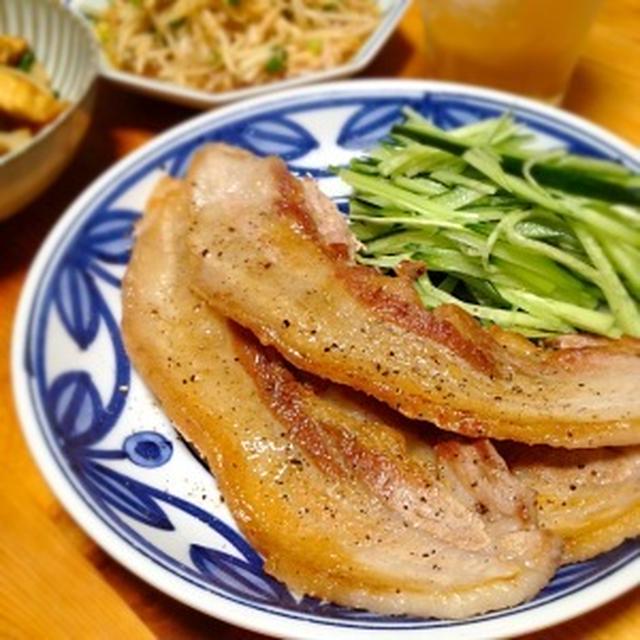 ☆豚バラカリカリジュワ〜焼き