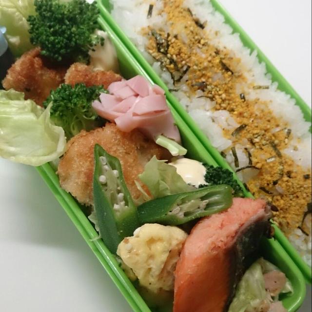 11/24 ささみカツ&鮭の塩焼きなお弁当~