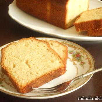 ラム酒のパウンドケーキ