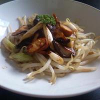 椎茸と和ネギとチーズベーコンの炒め物