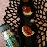マジョラムで自家製ドライトマト~ポテトとチーズのピンチョス♪