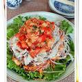 キムチ&塩麹トマトナムルの豚しゃぶサラダ
