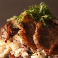簡単!パック入りご飯で!牛肉とシソの葉入り混ぜご飯