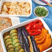 めんつゆで簡単夏レシピ!鶏むね肉と夏野菜の焼き浸し♪