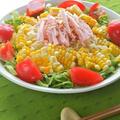 野菜でがっつり〜の冷やし麺!たっぷりレタスとコーンの冷やし中華。 by akkiさん