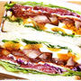 ■ そうだ、ボリュームサンドイッチを作ろう~♪(・∀・`o) ■ お弁当よりラクチン♪