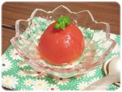 簡単トマトのさっぱりコンポート