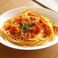 にんにく×生姜×かつおぶしのトマトパスタ