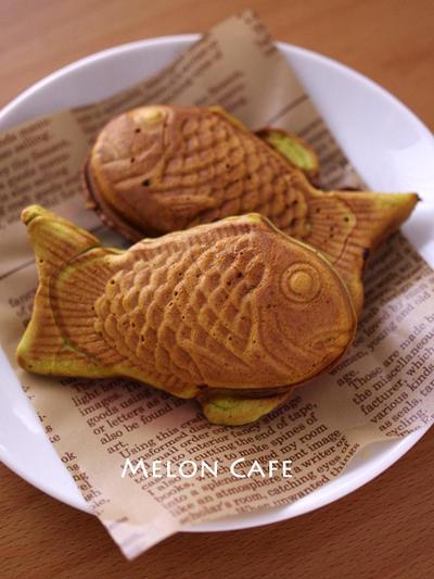 抹茶カスタードクリームの鯛焼き☆簡単に元気おやつ(ビタントニオのポワソンプレート使用)&レンジでつくるカスタードクリームレシピつき