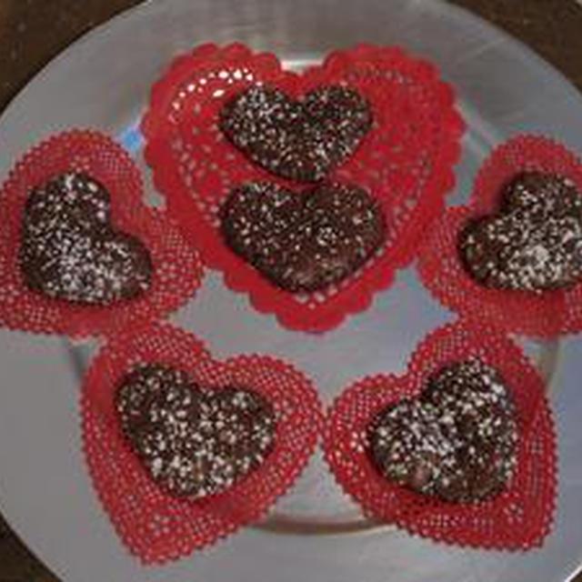 ハート型チョコレートメレンゲクッキー