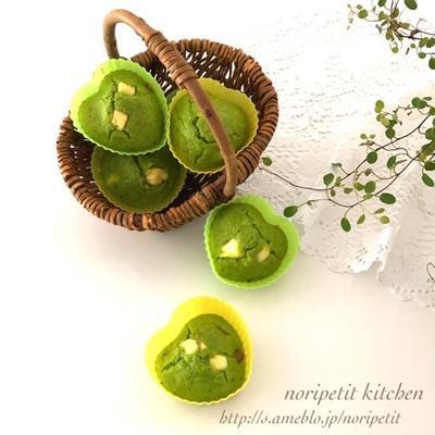 秋の花♡と <簡単>ノンオイルde混ぜて焼くだけ ほうれん草のケークサレ♡