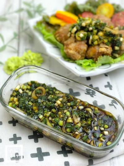 【レシピ】肉、魚、野菜、何にでも合う、青ネギ中華ダレ