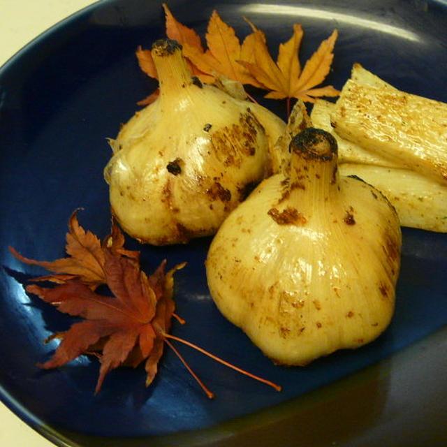 にんにくの丸ごと素揚げ&山芋の素揚げ
