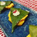 白身魚でピカタを作りました~!盛り付けも春らしく桜餅風にアレンジしてみたよ!