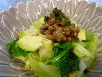 野菜&酵素がたっぷり摂れる♪納豆と蒸し野菜のサラダ