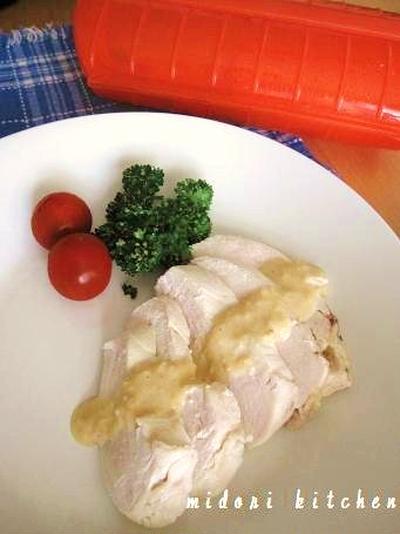 10分で♪ 簡単蒸し鶏&山わさび味噌マヨソース