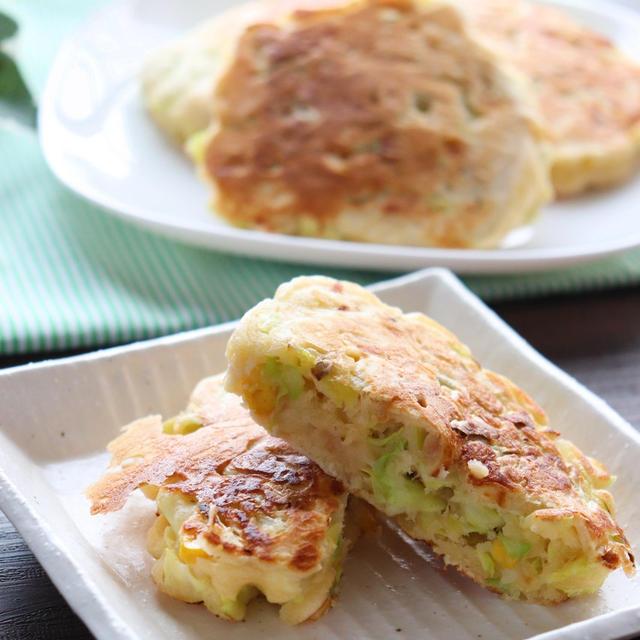 HMで簡単☆キャベツナコーンのパンケーキ&クックパッド人気検索トップ10入り♪