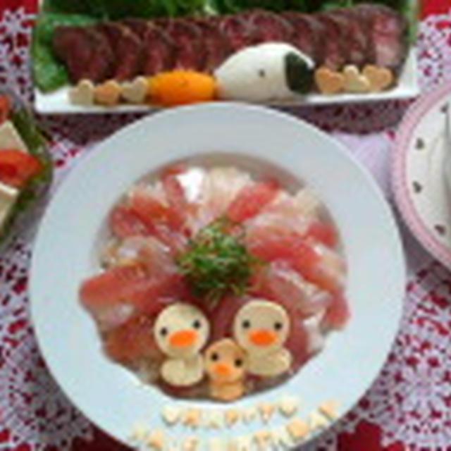 ゆうべのご飯&昨日のあーゴハン(離乳食32日目)~Half Birthday menu~