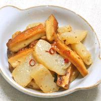 簡単、作り置き、ヘルシーなおつまみおかず〜こんにゃくとさつま揚げのピリ辛炒め煮。